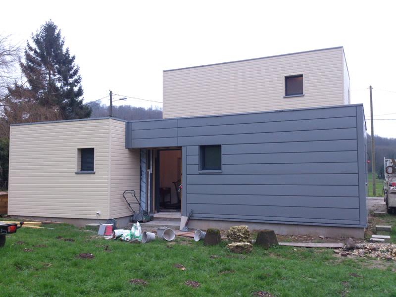 bardage bois maison habillage bardage maison with bardage bois maison finest maison neuve rt. Black Bedroom Furniture Sets. Home Design Ideas